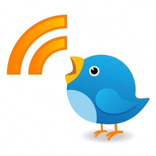 Twitter bird representing a news update